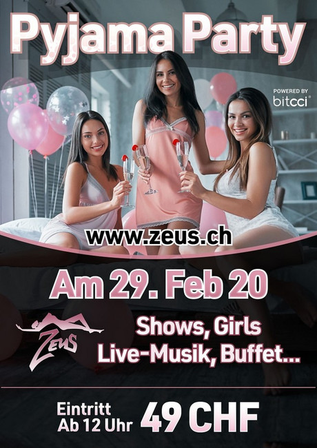 Pyjama Party im Sauna / FKK Club FKK Zeus Küssnacht (CH)  in Küssnacht am Rigi SZ