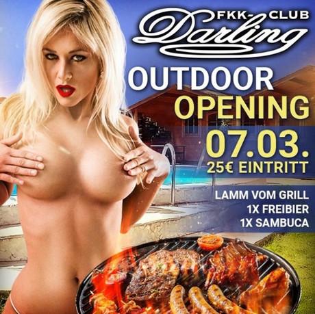 Outdoor Opening im Sauna / FKK Club FKK Darling Nidderau/Frankfurt (D) in Nidderau