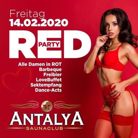 Red Party im Sauna / FKK Club Antalya Münster (Westfalen) (D) in Münster