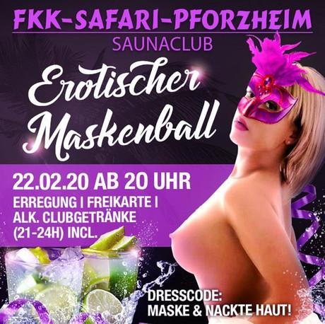 Erotischer Maskenball im Sauna / FKK Club FKK Safari Pforzheim (D) in Pforzheim