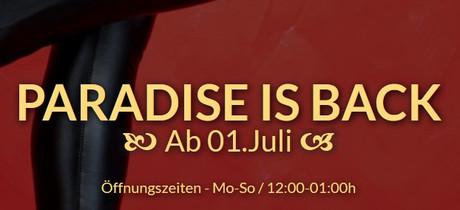Wiedereröffnung  im Sauna / FKK Club FKK Paradise Graz (A) in Graz-Liebenau