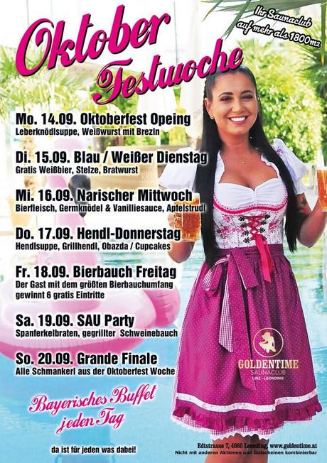 Oktoberfestwoche  im Sauna / FKK Club FKK Goldentime Leonding/Linz (A) in Leonding