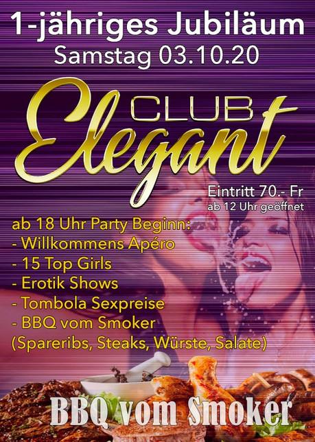 1st Birthday Party im Sauna / FKK Club Elegant Oberbüren (CH) in Oberbüren