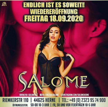 Wiedereröffnung  im Sauna / FKK Club Salome Herne (D) in Herne
