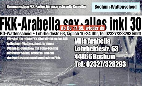 Wiedereröffnung  im Sauna / FKK Club FKK Villa Arabella Bochum [RTC] (D) in Bochum-Wattenscheid