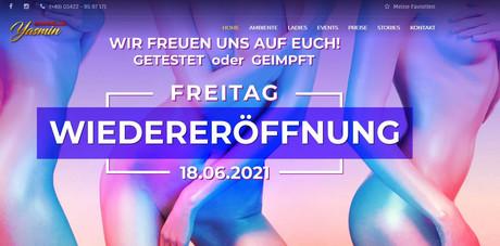 Wiedereröffnung  im Sauna / FKK Club Yasmin Melle/Osnabrück (D) in Melle