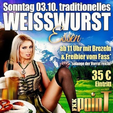 Oktoberfest FKK Point im Sauna / FKK Club FKK Point Bruchsal/Karlsruhe (D) in Bruchsal