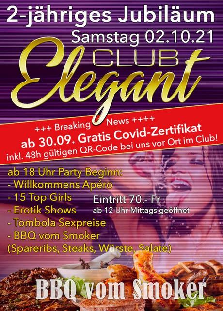 2nd Birthday Party im Sauna / FKK Club Elegant Oberbüren (CH) in Oberbüren
