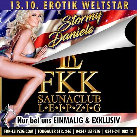 Stormy Daniels im Sauna / FKK Club FKK Leipzig (D) in Leipzig