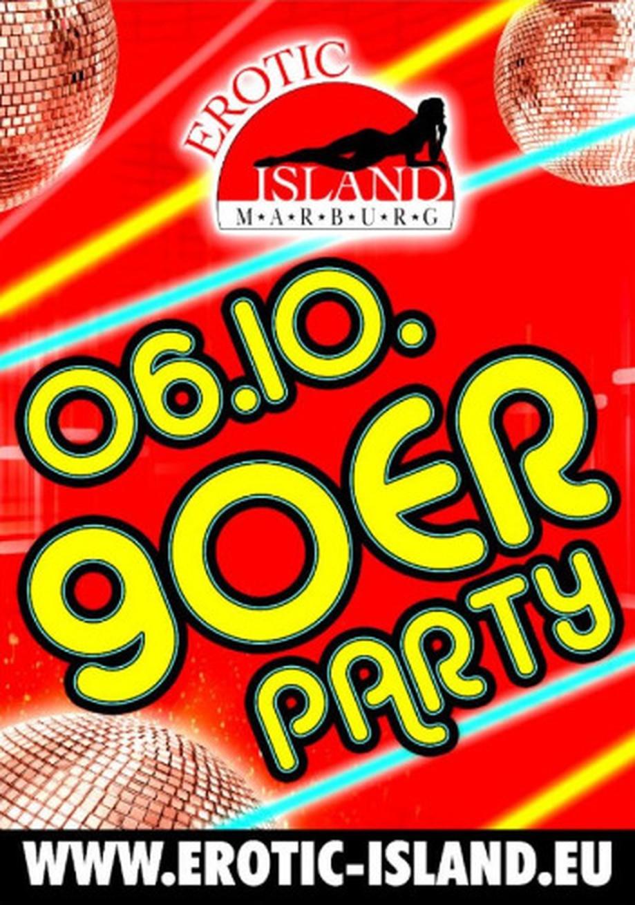 90er-Party am 06.10.2018 im Erotic Island Marburg (D