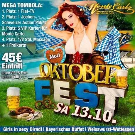 Oktoberfest im Sauna / FKK Club FKK Monte Carlo Baden-Baden (D) in Baden-Baden