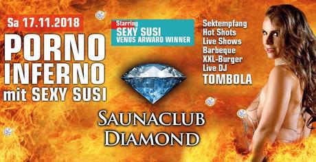 Porno Inferno starring Sexy Susi im Sauna / FKK Club Diamond Moers (D) in Moers