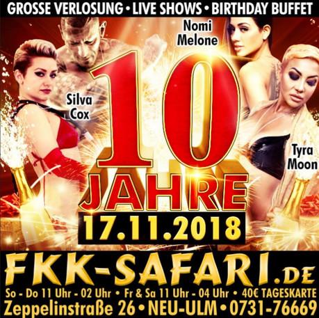 10th Birthday Party im Sauna / FKK Club FKK Safari Neu-Ulm (D) in Neu-Ulm