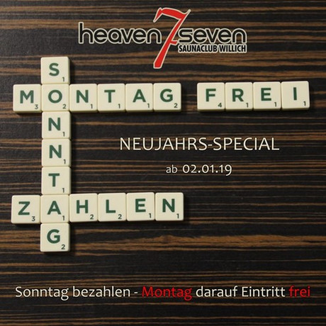 Free Ticket im Sauna / FKK Club Heaven Seven Willich (D) in Willich