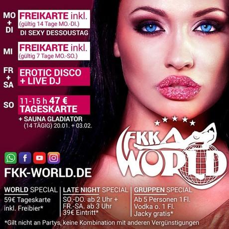 Erotic Disco & Live DJ im Sauna / FKK Club FKK World Pohlheim/Gießen (D) in  Pohlheim-Garbenteich