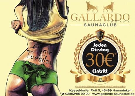 Magic Tuesday im Sauna / FKK Club Gallardo Hamminkeln (D) in Hamminkeln