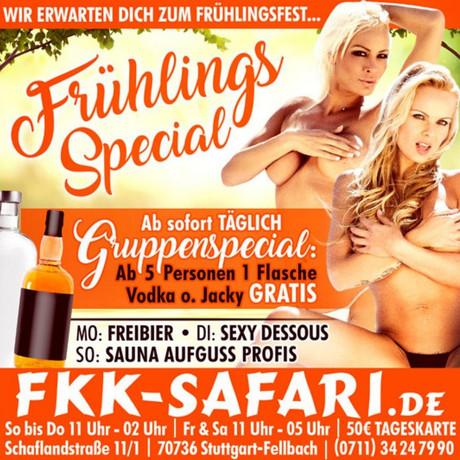 Freibier im Sauna / FKK Club FKK Safari Fellbach/Stuttgart (D) in Fellbach