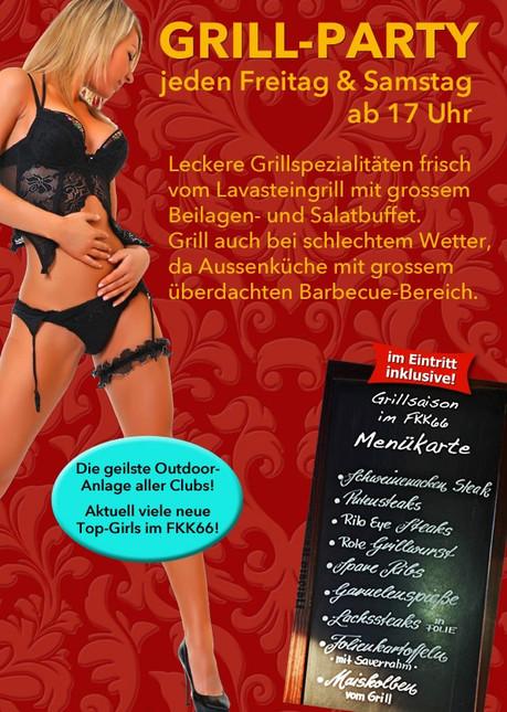 BBQ Party im Sauna / FKK Club FKK 66 Villingen-Schwenningen (D) in Villingen-Schwenningen