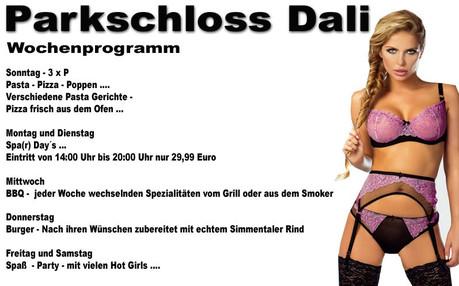 Simmentaler Burger im Sauna / FKK Club Parkschloss Dali Marsberg (D) in Marsberg