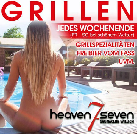 BBQ im Sauna / FKK Club Heaven Seven Willich (D) in Willich