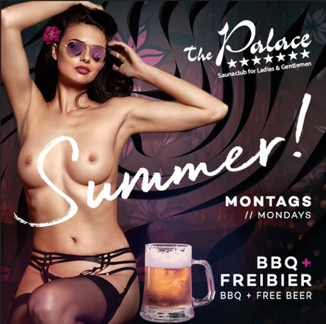 BBQ & Free Beer im Sauna / FKK Club FKK The Palace Frankfurt (D) in Frankfurt