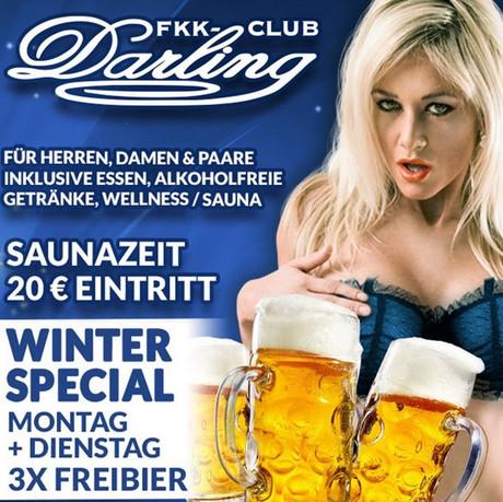 Winter Special im Sauna / FKK Club FKK Darling Nidderau/Frankfurt (D) in Nidderau