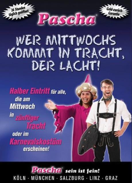 Trachtenmittwoch - Costume Day im Sauna / FKK Club Pascha Nightclub Köln (D) in Köln