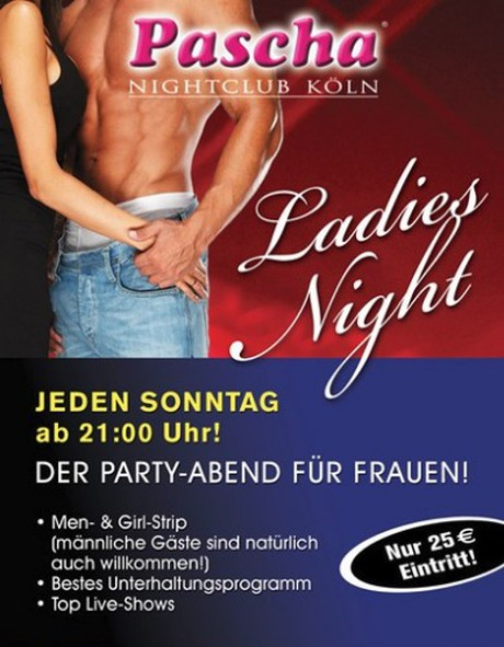 Ladies Night im Sauna / FKK Club Pascha Nightclub Köln (D) in Köln