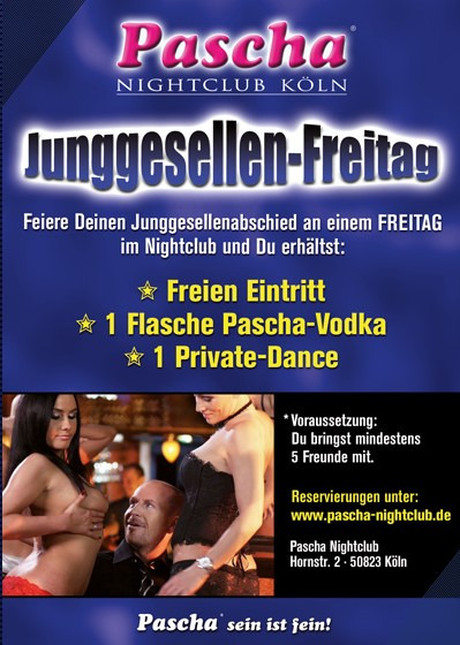 Bachelor Party im Sauna / FKK Club Pascha Nightclub Köln (D) in Köln