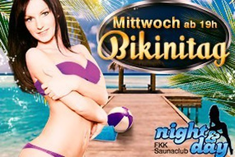 Bikini-Tag im Sauna / FKK Club FKK Night & Day Bürstadt (D) in Bürstadt