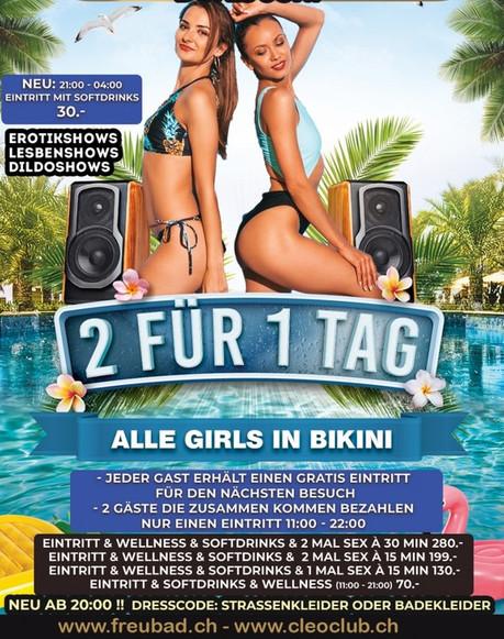 2 for 1 Day im Sauna / FKK Club FKK Freubad Recherswil (CH) in Recherswil