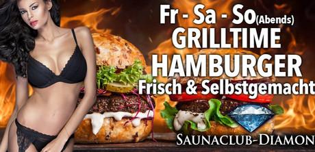 BBQ Hamburger im Sauna / FKK Club Diamond Moers (D) in Moers