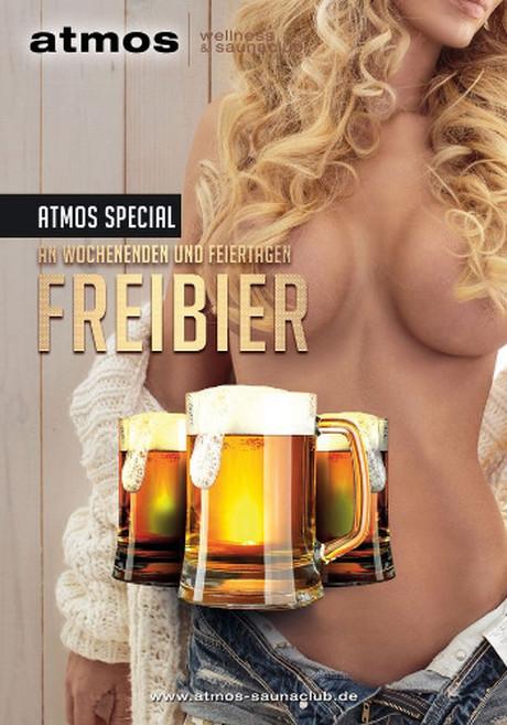Freibier im Sauna / FKK Club Atmos Hamburg (D) in Hamburg