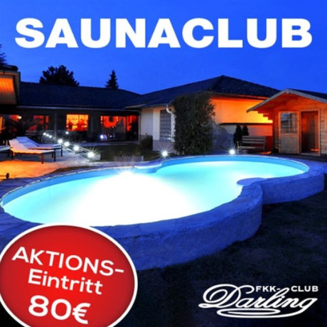 Nur 1x 80 EUR im Sauna / FKK Club FKK Darling Nidderau/Frankfurt (D) in Nidderau