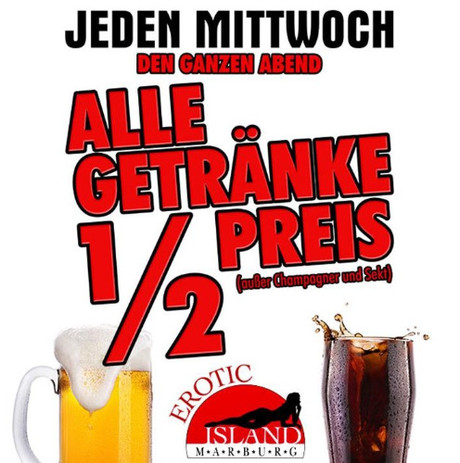Drinks Special im Sauna / FKK Club Erotic Island Marburg (D) in Marburg