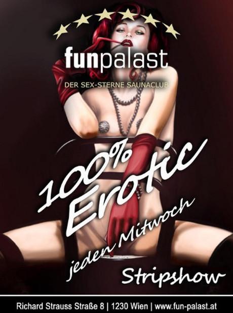 Strip-Show im Sauna / FKK Club Fun Palast Wien (A) in Wien