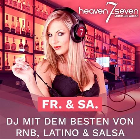 DJ-Night im Sauna / FKK Club Heaven Seven Willich (D) in Willich