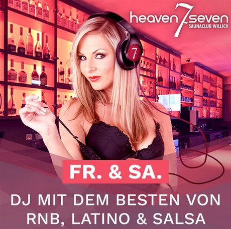 DJ-Night im Sauna / FKK Club Heaven Seven Willich (D) in Willich