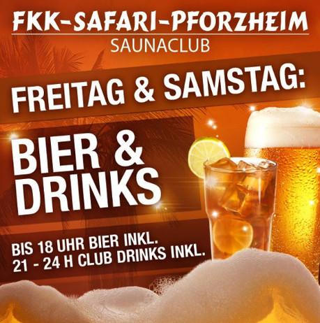 Bier & Drinks im Sauna / FKK Club FKK Safari Pforzheim (D) in Pforzheim