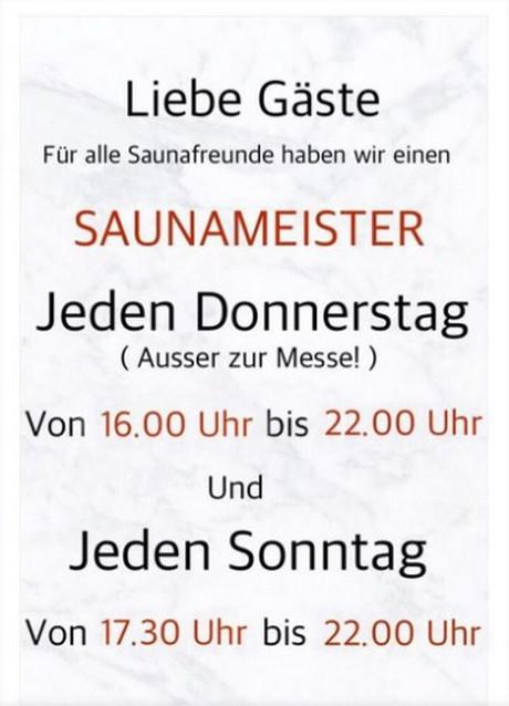Saunameister im Sauna / FKK Club FKK Villa Hannover (D) in Hannover