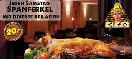 Spanferkel (Porcelet) im Sauna / FKK Club Cleoclub Bargen/Biel (CH) in Bargen