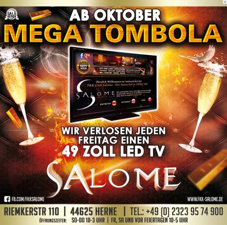 Mega-Tombola im Sauna / FKK Club Salome Herne (D) in Herne