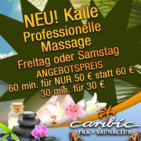 Massage-Tag im Sauna / FKK Club Caribic Mainz/Wiesbaden (D) in Mainz-Kastel